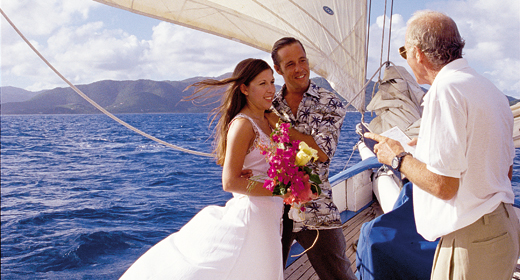 Wedding Service on a boat