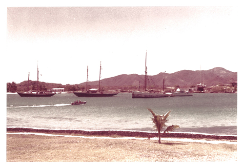 A view of Trellis Bay in the 1950s. Photo courtesy of Mabel Wagner.